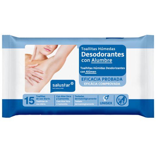 salustar toallitas desodorantes 15ud