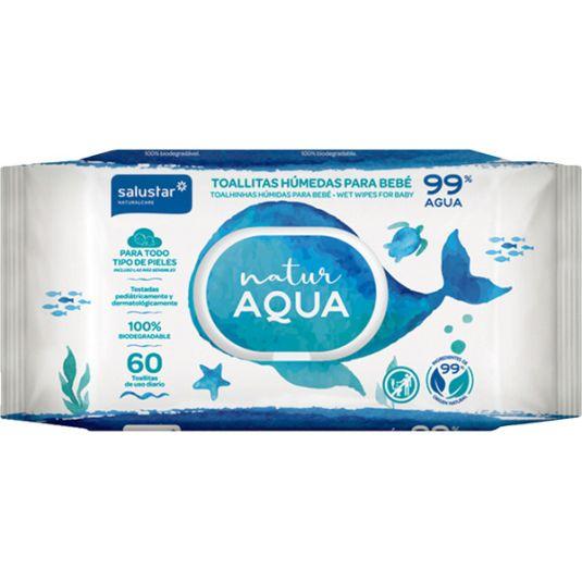 salustar toallitas bebe natur aqua 60ud