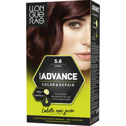 llongueras color advanced tinte permanente nº 5.6 caoba