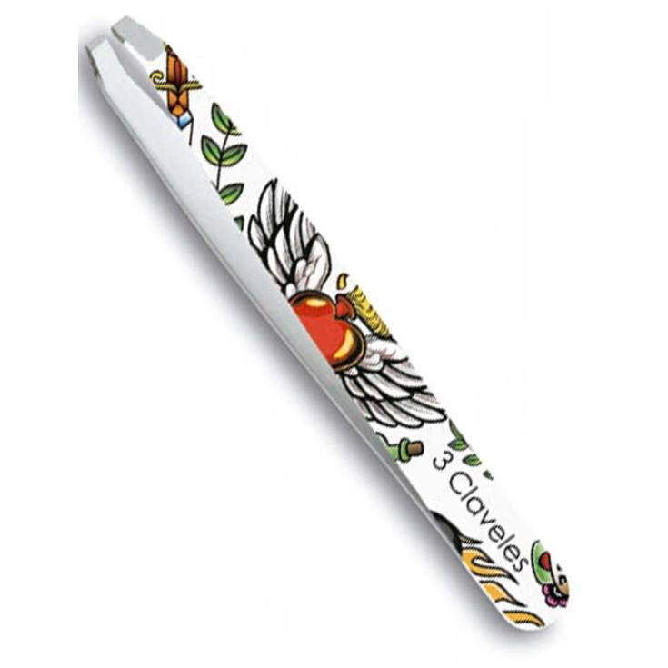 3 claveles pinza depilar cangrejo tatoo 9.5cm