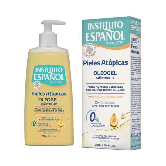 instituto español pieles atopicas oleogel para baño y ducha dosificador 300ml