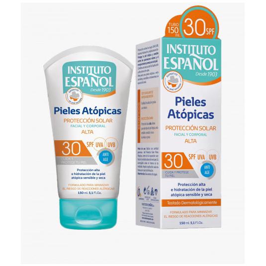 inst. español protector solar facial y corporal pieles atopicas spf30 150ml