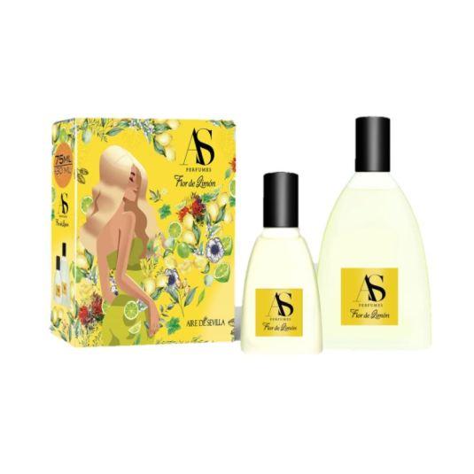 aire de sevilla flor de limon 75ml estuche 2 piezas