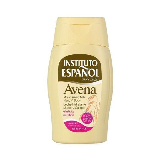 instituto español leche hidratante avena cuerpo y manos 100ml