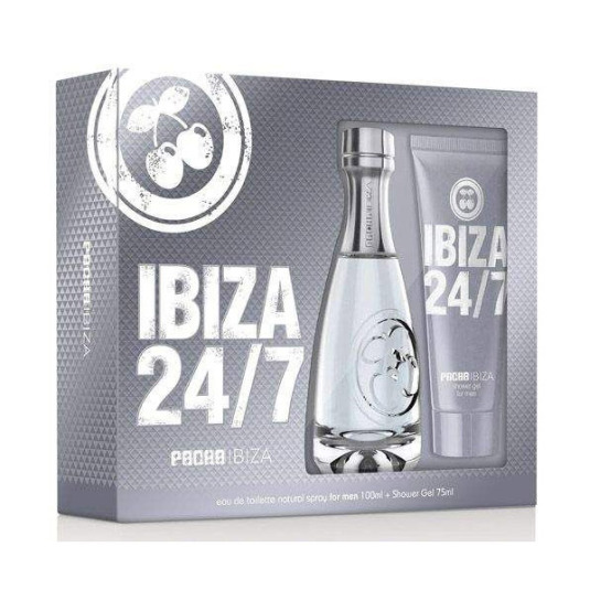 pacha ibiza 24/7 pacha eau de toilette for men 100ml estuche 2 piezas