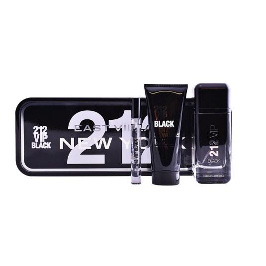 carolina herrera 212 vip black men eau de parfum cofre 3 piezas