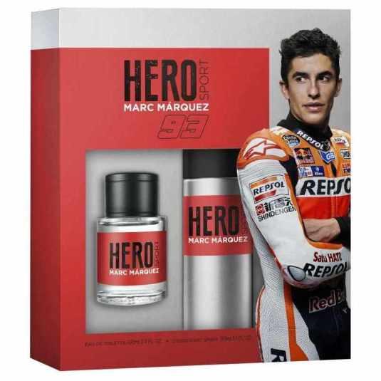 hero sport marc marquez eau de toilette 100ml set 2 piezas