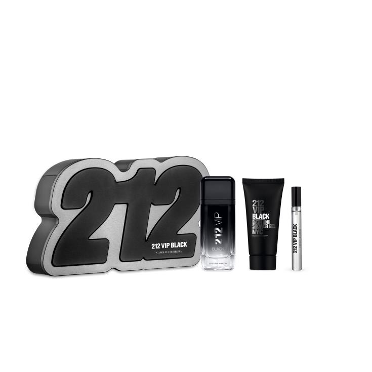 carolina herrera 212 vip black men eau de parfum cofre regalo 3 piezas