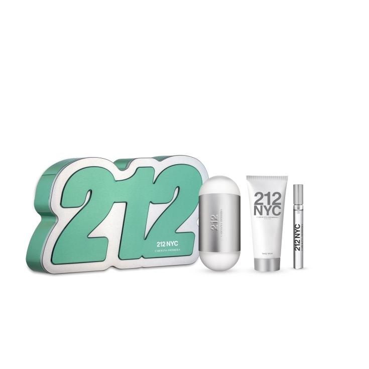 carolina herrera 212 eau de toilette cofre regalo 3 piezas
