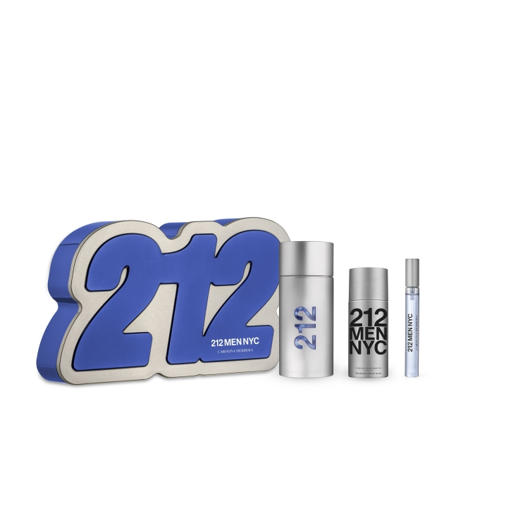 carolina herrera 212 men eau de toilette cofre regalo 3 pieza