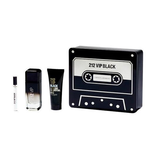 carolina herrera 212 vip black eau de parfum 100ml cofre 3 piezas
