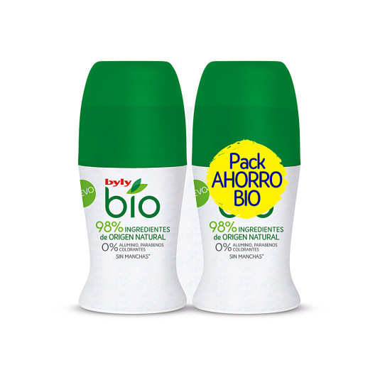 bIlly bio desodorante roll-on duplo 2x50ml pack ahorro