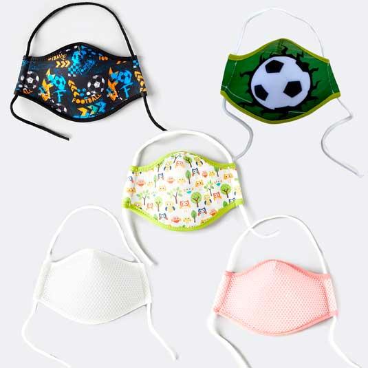mascarilla protectora ergonomica reutilizable tela talla s