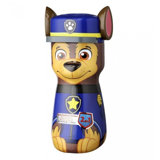 PAW PATROL CHAISE FIGURA 3D GEL 2 EN 1 400 ML
