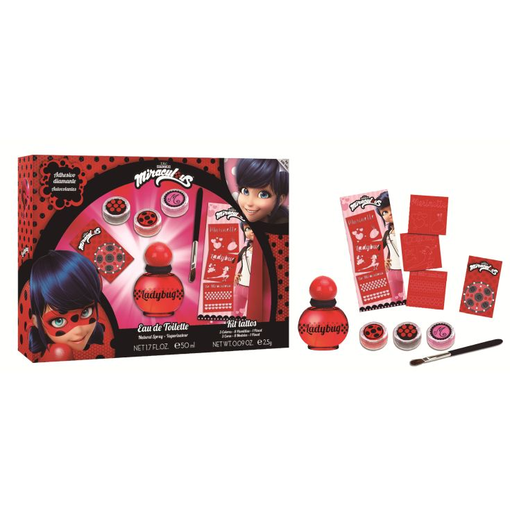 LADYBUG SET COLONIA 50 ML + KIT TATOO