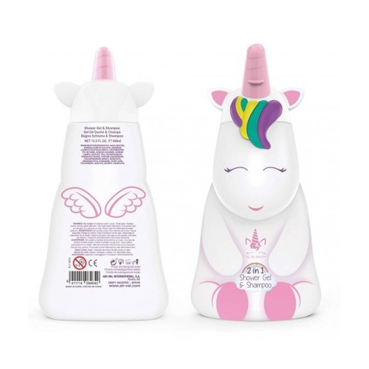 eau my unicorn gel & champú figurita 2d 400ml