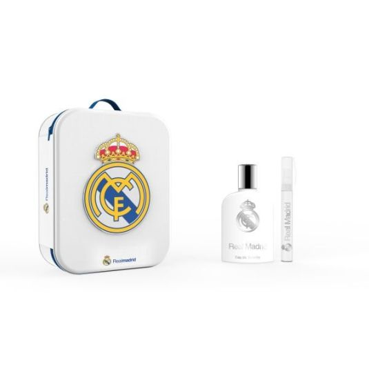 real madrid eau de toilette 100ml cofre regalo + neceser metalico