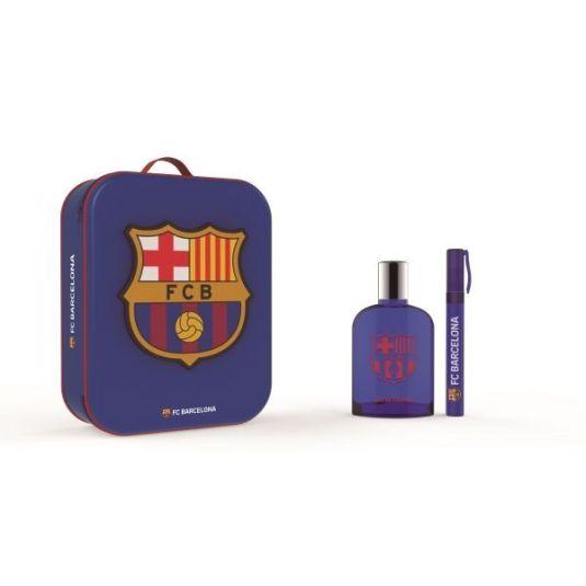 barcelona fc eau de toilette 100ml cofre regalo + neceser metálico