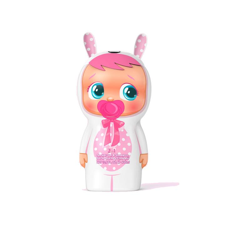 cry babies gel de baño y champu frasco 3d para niños 400ml