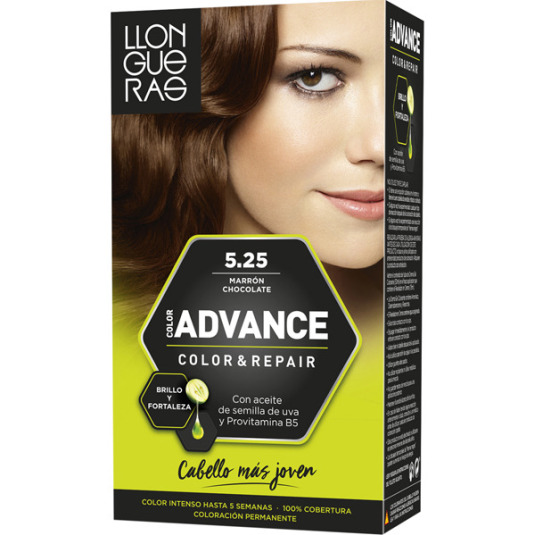 llongueras color advanced tinte permanente n5,25 marrón chocolate