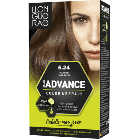 llongueras color advanced tinte permanente nº 6,25 marrón macacamia