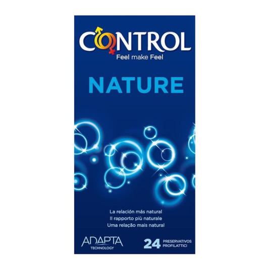 control adapta nature preservativos 24 unidades