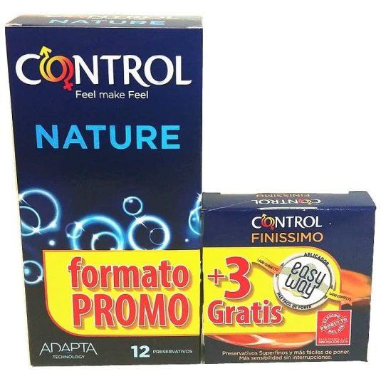 control adapta nature preservativos 12+3 uds gratis
