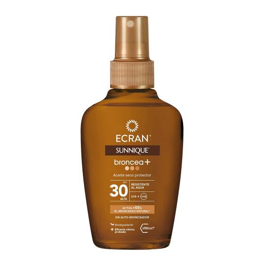 ecran sunnique aceite seco protector spf30 bruma sedosa