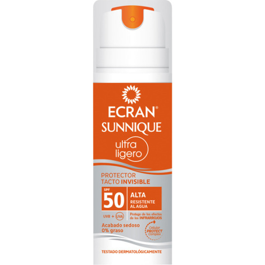 ECRAN SUNNIQUE ULTRA LIGERO PROTECTOR SOLAR TACTO INVISIBLE SPF50 145ml