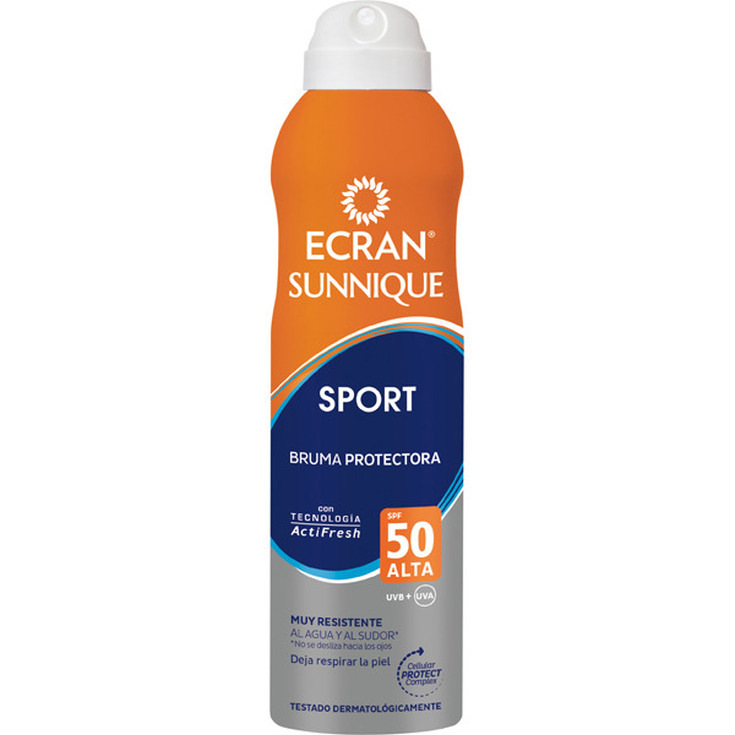 ecran sunnique sport bruma protectora spf50 spray 250ml