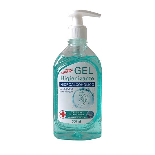 lubrex gel higienizante hidroalcoholico dosificador 500ml