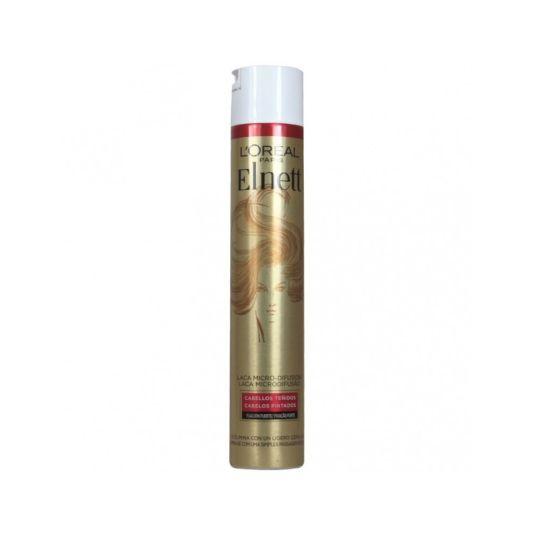 elnett laca fijación fuerte cabello teñido 400ml