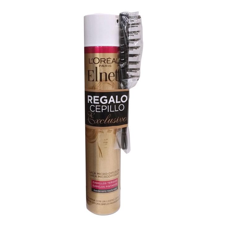 elnett laca cabellos tenidos 400ml + cepillo regalo
