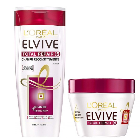ELVIVE SET TOTAL REPAIR 5 (CHAMPÚ 250ML. + MASCARILLA 30ML)