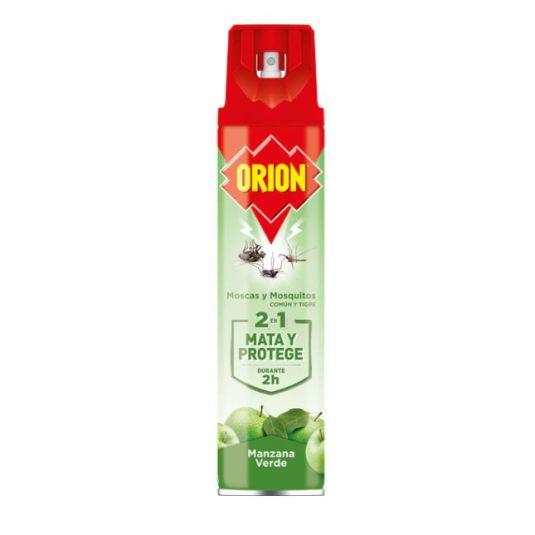 orion insecticida moscas y mosquitos 2en1 aroma manzana verde spray 600ml