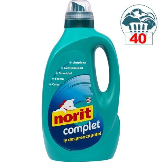 norit complet detergente maquina liquido 40 dosis