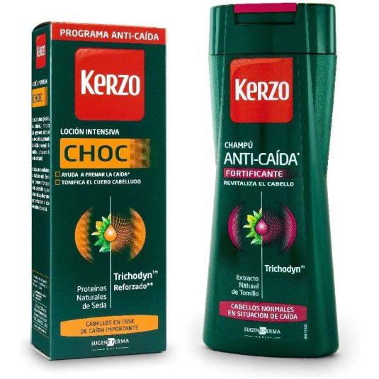 kerzo choc locion intensiva anti-caida 150ml + champu anti-caida regalo