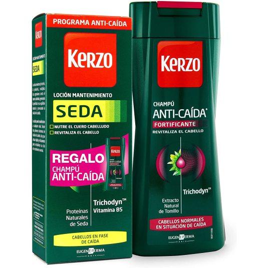 kerzo kerzo locion seda 150ml + champu anti-caida regalo