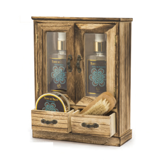 shausa set baño aceite de argán 6 piezas en armario mini