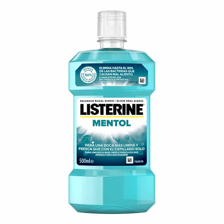 listerine enjuague bucal sabor mentol 500ml