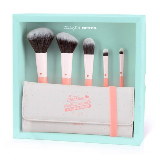 kit de brochas de maquillaje mr. wonderful-beter