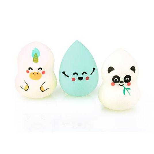 set 3 esponjas maquillaje animalitos mr. wonderful-beter