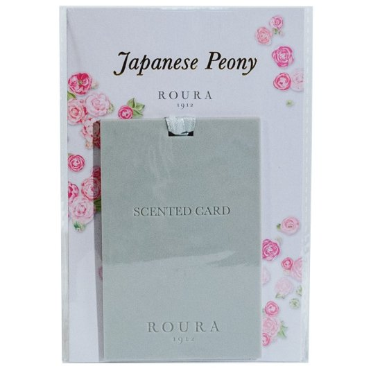 ROURA TARJETA PERFUMADA JAPANESE PEONY