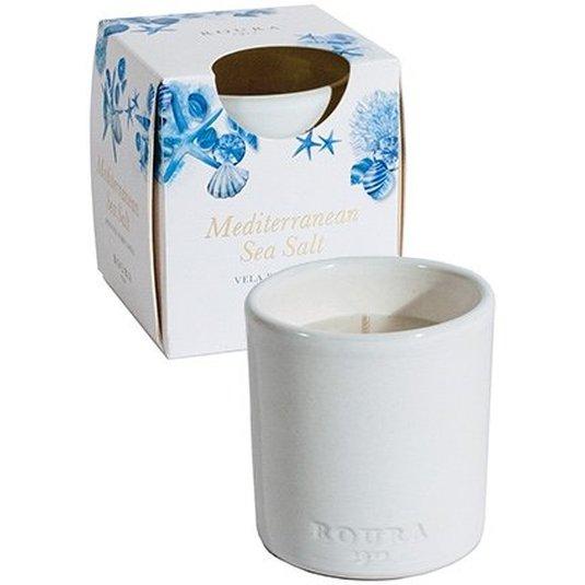 roura vela vaso ceramica perfume mediterranean sea salt