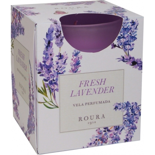vela vaso satinado perfume fresh lavender