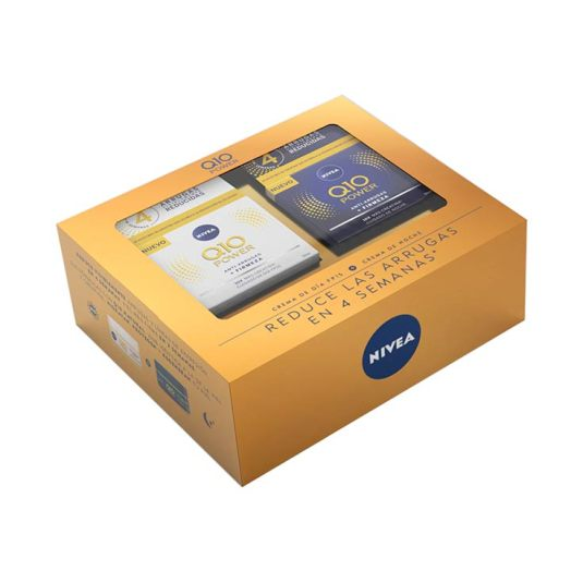 nivea set regalo q-10 power crema dia + crema noche
