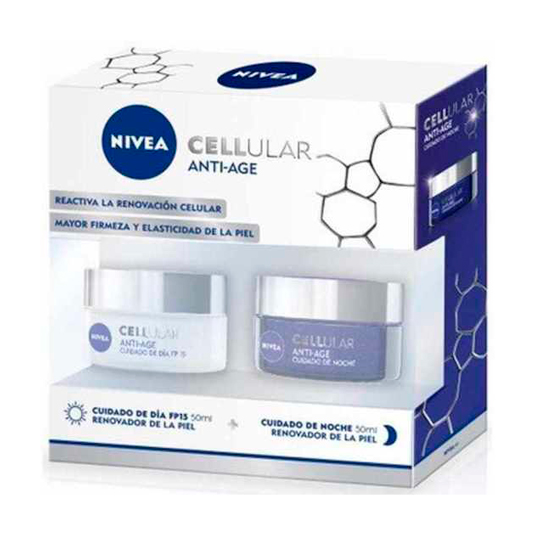 nivea cellular anti-age set crema día + crema noche 50ml