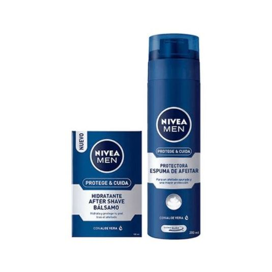 nivea men sensitive espuma afeitar 200ml bálsamo after shave 100ml