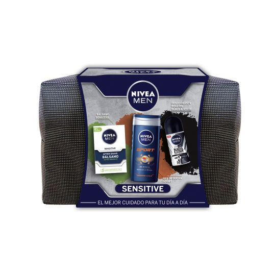 NIVEA MEN NECESER BALSAMO SENSITIVE+GEL+DESODORANTE