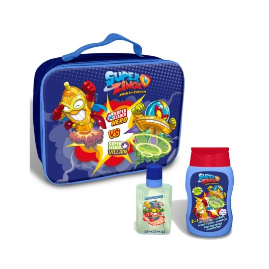 superzings bolsa baño colonia 50 ml + gel 200  ml